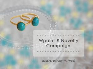2015Wポイント&ノベルティキャンペーン