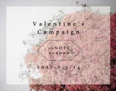 Valentine's 10%OFFキャンペーン