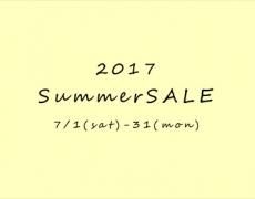 2017 Summer SALE! 7/1~31