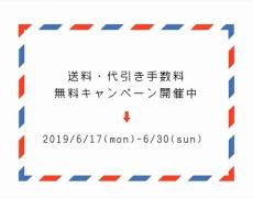 送料・代引き手数料無料キャンペーン 6/17~6/30