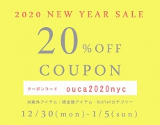 【OucaWEBSHOP】7日間限定NEWYEARSALEのお知らせ12/30~1/5