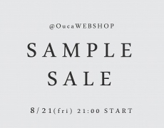 \\SampleSale//オンラインにて初開催!@OucaWEBSHOP